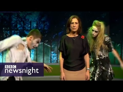 NEWSNIGHT: Kirsty Wark marks Halloween with Thriller dance