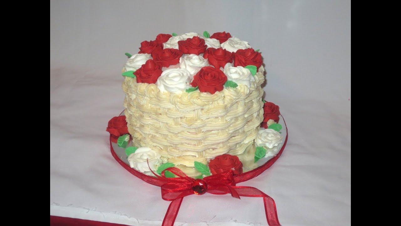 Basket Weaving A Cake : Basket weave cake