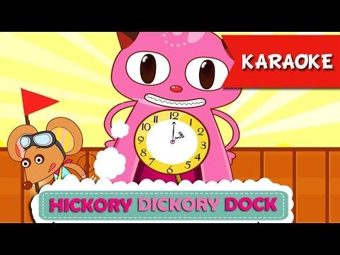 Hickory Dickory Dock Karaoke ♫ Nhạc Thiếu Nhi Vui Nhộn ♫ ♫ Học Tiếng Anh Qua Bài Hát ♥ ♥ ♥
