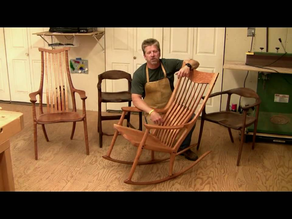 learn how to build a maloof style rocking chair 6 hrs of. Black Bedroom Furniture Sets. Home Design Ideas