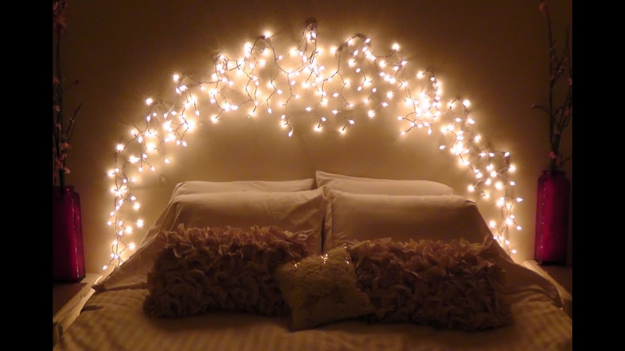 DIY Icicle Light Faux Headboard  YouTube