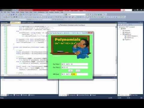 Lập Trình C# - Bài Toán Đa Thức - Sử dụng For, While, If