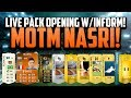 MOTM NASRI! LIVE PACK OPENING w/ INFORM! | FIFA 14 Ultimate Team