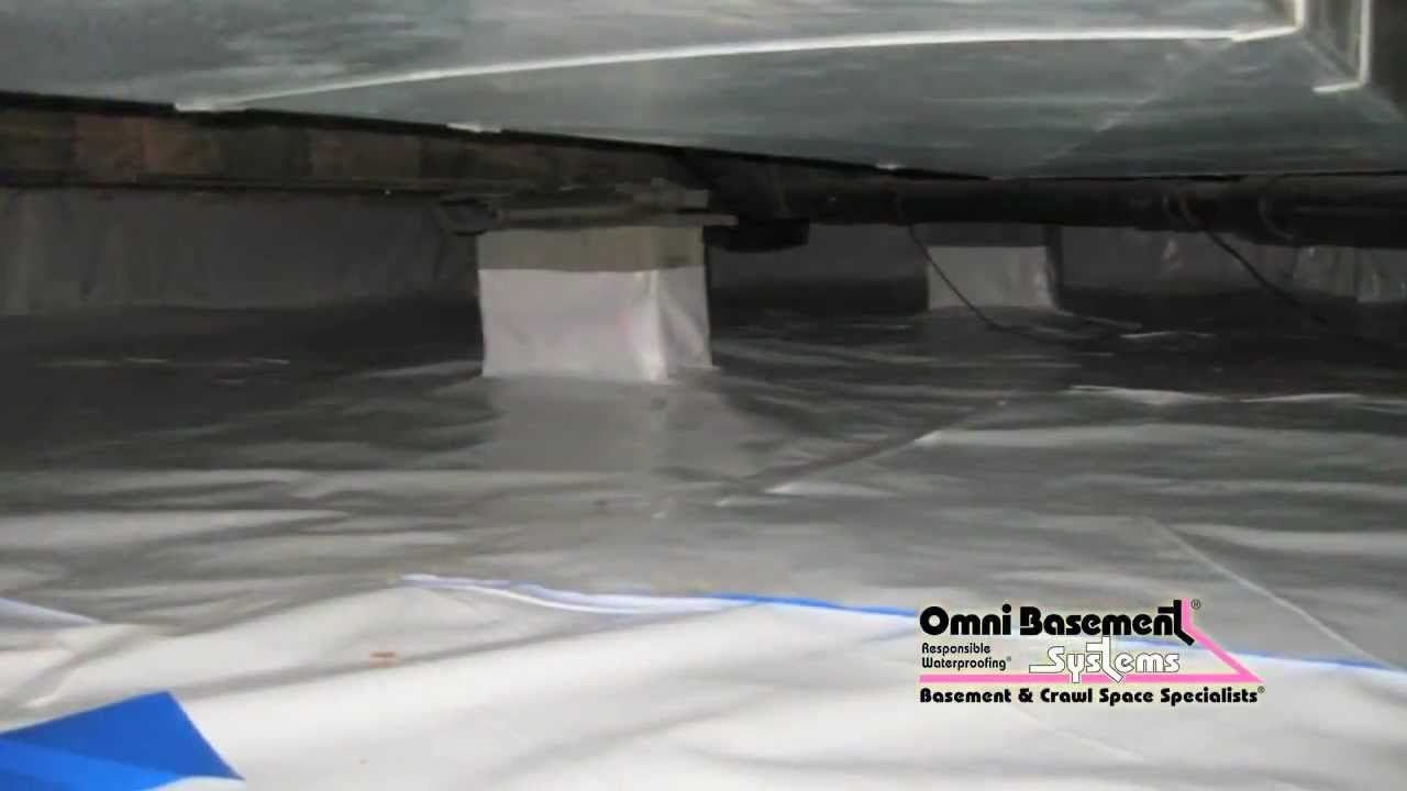 fixing and insulating a humid moldy crawl space in