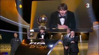 Lionel Messi Balón de Oro Golden Ball 2010 - FiFPro World XI Award 10/1/2011