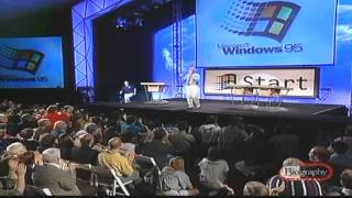 Windows 95 The Bill Gates Introduced By Jay Leno (Funny