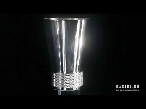 Серебряная стопка арт. 2301030005 от SOKOLOV - Видео 1