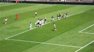 24/05/2009 - Siena-Juventus 0-3, la punizione del Capitano vista dalla curva