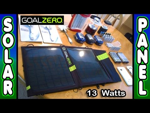 Small SOLAR PANEL Kit Portable GoalZero Nomad 13 Guide10Plus power SHTF