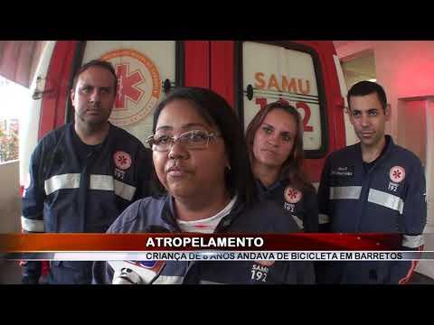08/03/2019 - Criança de 8 anos fica ferida em acidente de trânsito em Barretos