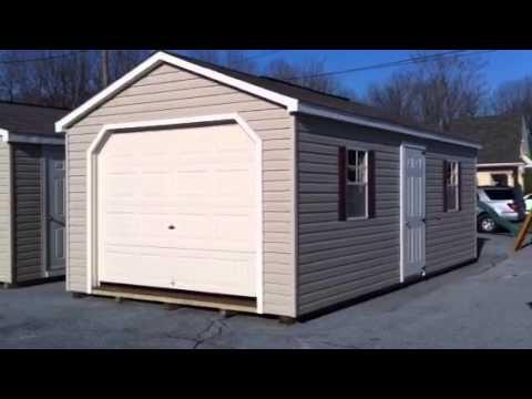 Prebuilt single car garage youtube for Single garage prices