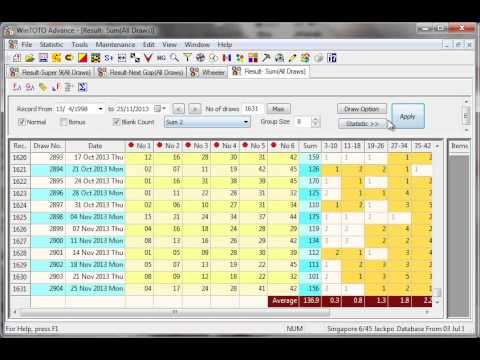 Singapore TOTO Tips by WinTOTO Advance