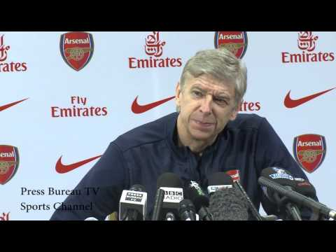 Arsene Wenger pre Arsenal vs Cardiff