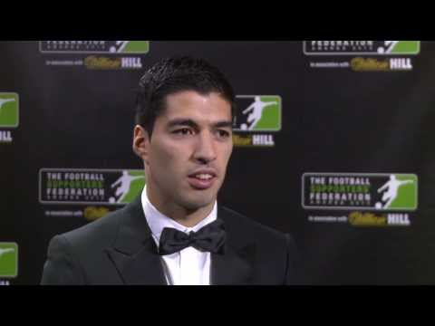 Liverpool's Luis Suarez Wins Player of the Year At The 2013 FSF Awards