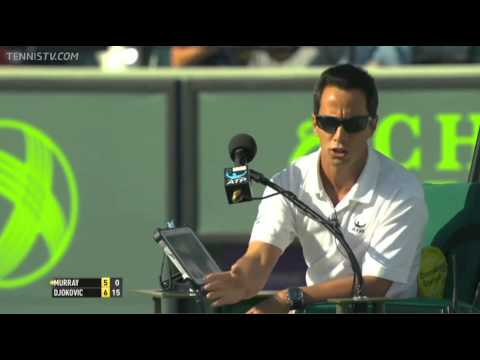 Umpire blows call against Andy Murray in Miami 2014