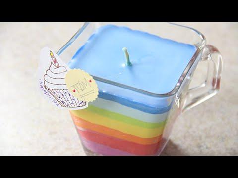 Como hacer Velas arcoiris con crayolas | Craftingeek