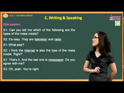 VES Learning - AV 10 - Unit 7. The Mass Media - Writing - Speaking