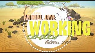 Animal Jam; WORKING Codes. ♥ { October 2014 }