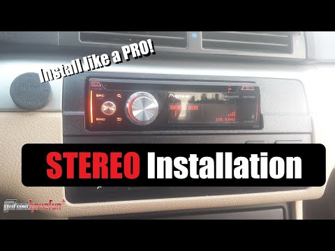 How to wire / install a car stereo / deck  (aftermarket head unit installation)
