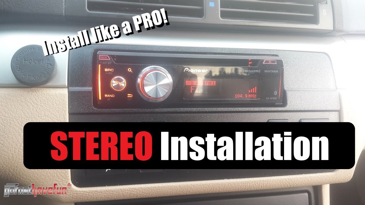 How To Wire Install A Car Stereo Deck Aftermarket