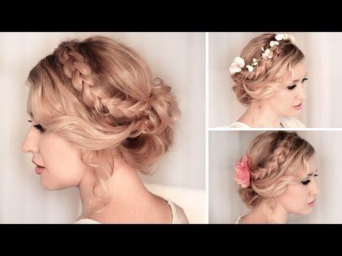 Tuto coiffure soirée/mariage ✿ Chignon bas facile à faire, cheveux mi long