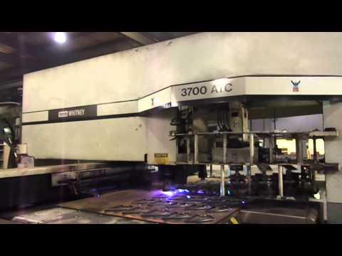 40 Ton Whitney Model 3700ATC Combination CNC Plasma Punch (2000)