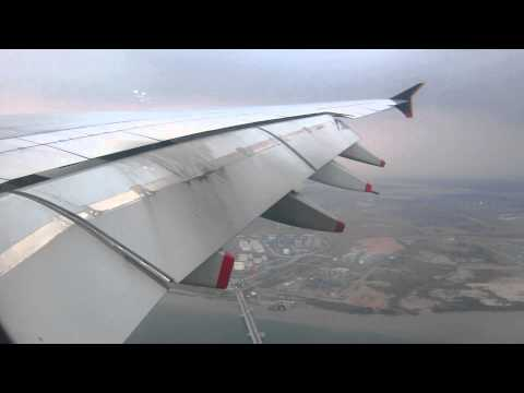 Singapore Airlines A380-841 *9V-SKE Landing Singapore Changi [9/2/2014]