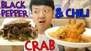 CHILI Crab & ORIGINAL Black Pepper Crab in Singapore