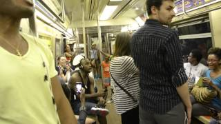 "Lion King's Broadway Cast Sings ""Circle Of Life"" on NYC Subway"