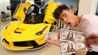 USING FAKE $2,000,000 TO BUY MY DREAM CAR! (Then This Happens)