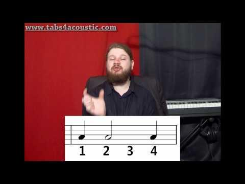 Cours de guitare : Le rythme 1 : Noires, blanches, rondes - Partie 2