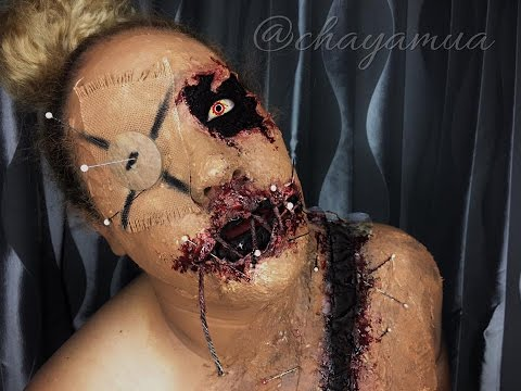 Voodoo Doll Makeup Tutorial Halloween