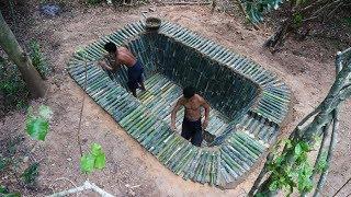 Construir una piscina de bambú