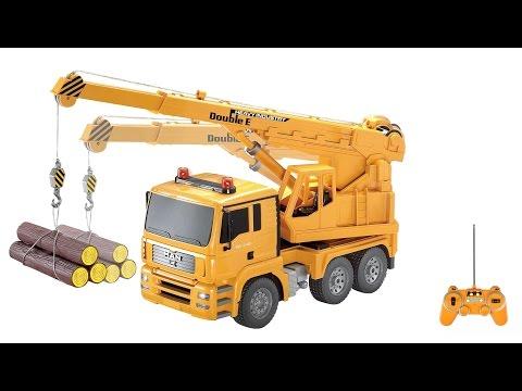 Hoạt hình 3D cần cẩu, máy xúc làm việc cho các bé ● Cần cẩu, xe tải, máy xúc, máy ủi, xe lu.