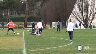 ALLENAMENTO INTER REAL AUDIO 16 02 2015