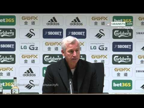 Swansea City Video: Alan Pardew after loss against Swansea