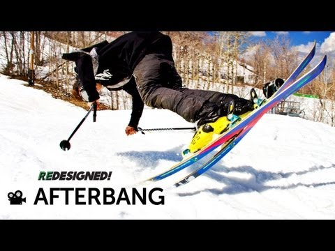 Line Men Afterbang Park Ski 166cm + Griffon 90mm Bindings ( 2014 )