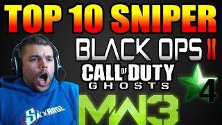 TOP 10 SNIPER #40 BO2,COD4, MW3 & Ghosts En FaceCam