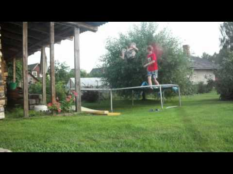 Best Summer Trampoline Tricks 2012 (Insane combos,triple front, cody combos, 315 subs!!!)