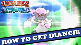 How To Get DIANCIE In Pokemon Omega Ruby & Alpha Sapphire