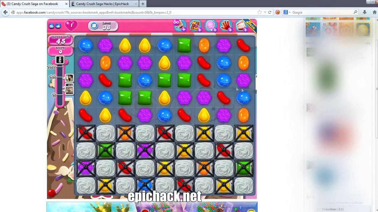 cheats for candy crush saga level 38