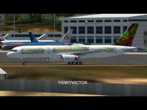 LANDING AT PORT-AU-PRINCE- HAITI FS2004 HD