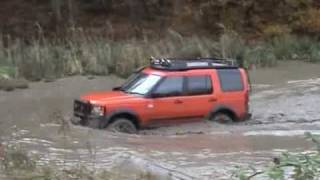 LR3 Land Rover Discovery 3, Water Crossing, Hill Ascend