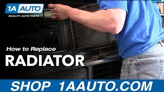 How To Install Replace Radiator Chevy Pickup Truck Tahoe