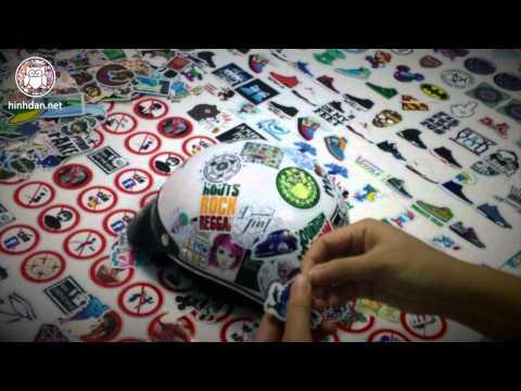 Hướng dẫn dán sticker cho nón bảo hiểm