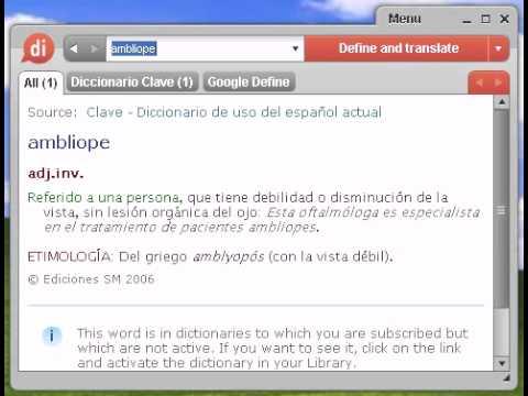 Definición de ambliope