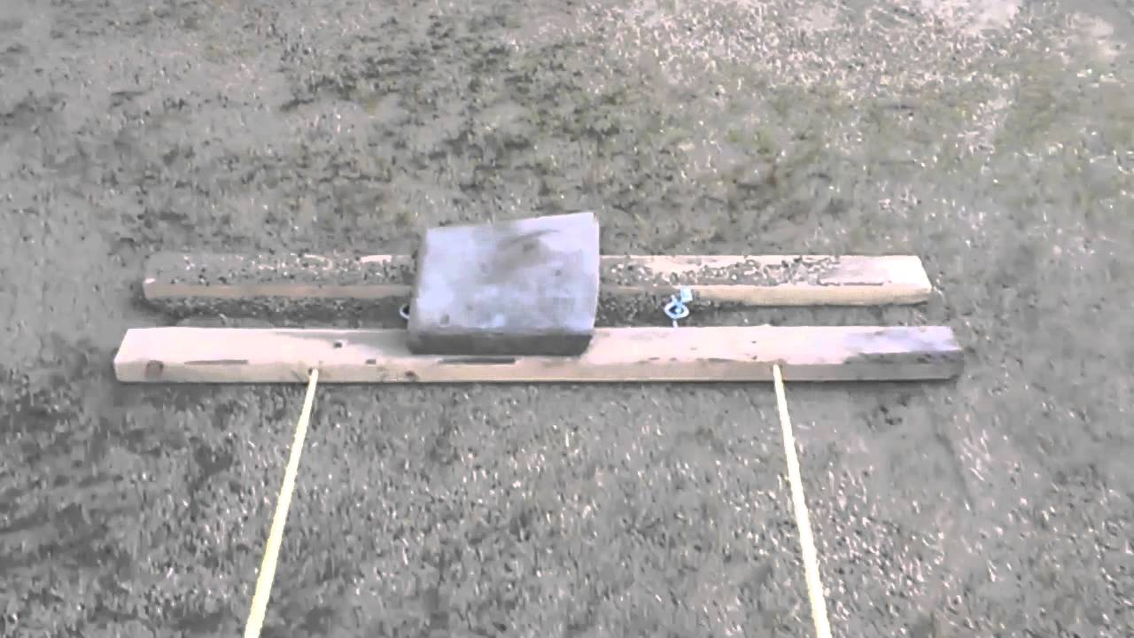 Home Made Drag : Leveling lawn youtube