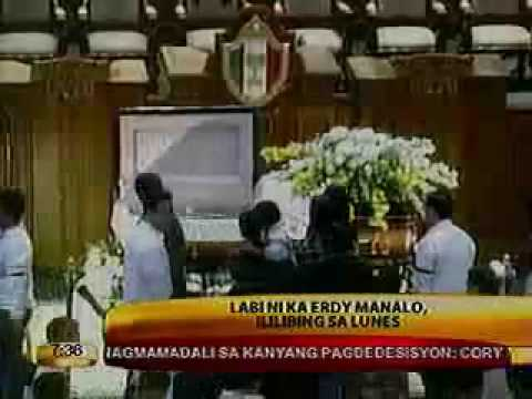 EXECUTIVE MINISTER KA ERDY MANALO LAID TO REST