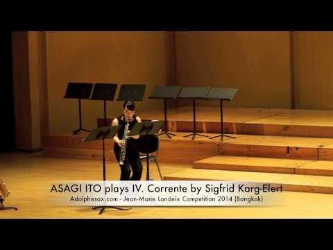 ASAGI ITO plays IV Corrente by Sigfrid Karg Elert
