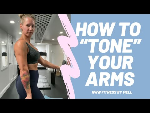 """How to """"tone"""" your arms band exercise"""